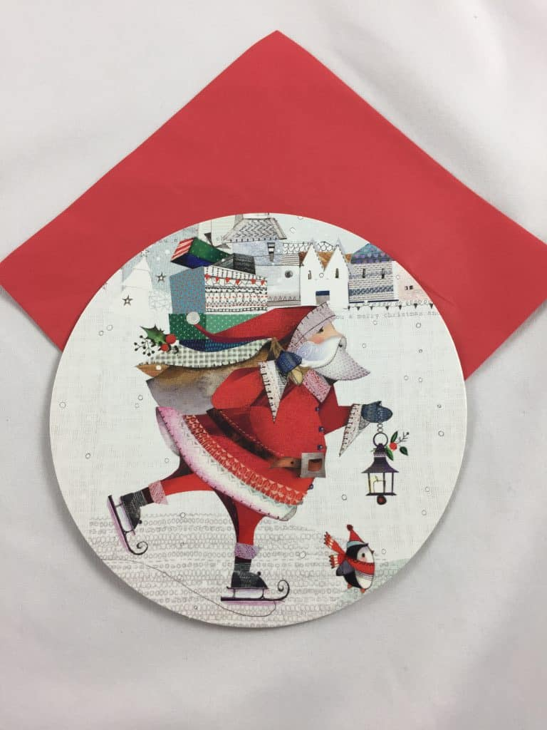 Carte Ronde Noel