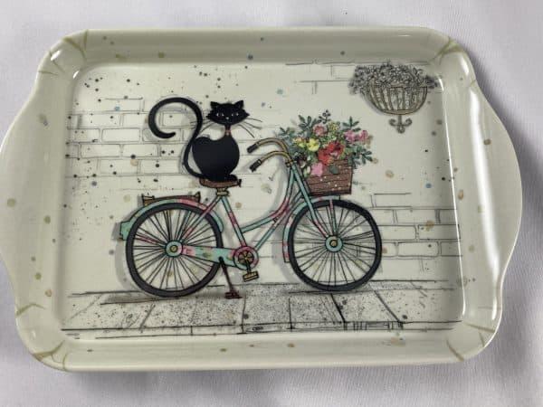Plateau chat sur vélo